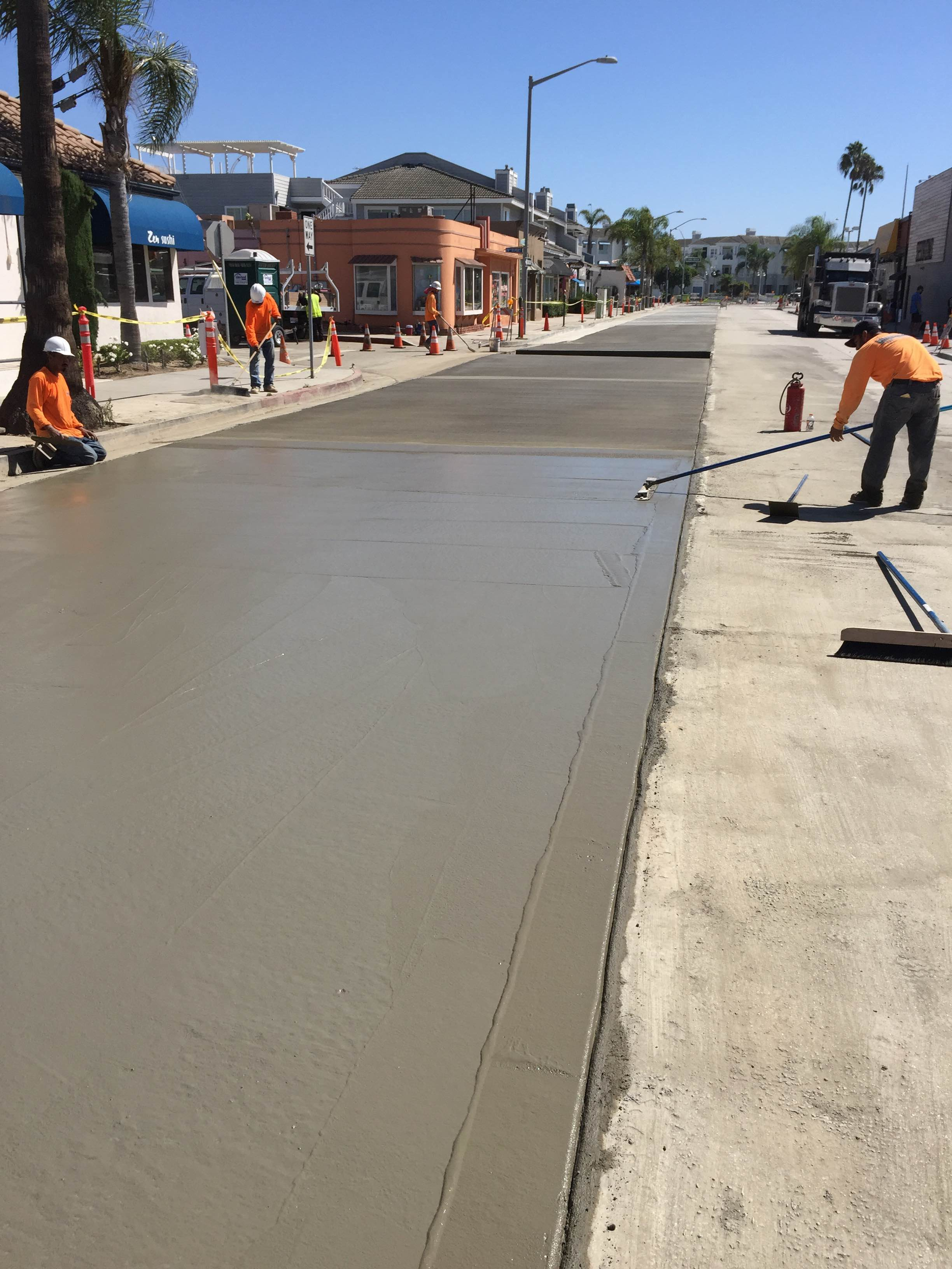 We paved this stretch of concrete in Newport