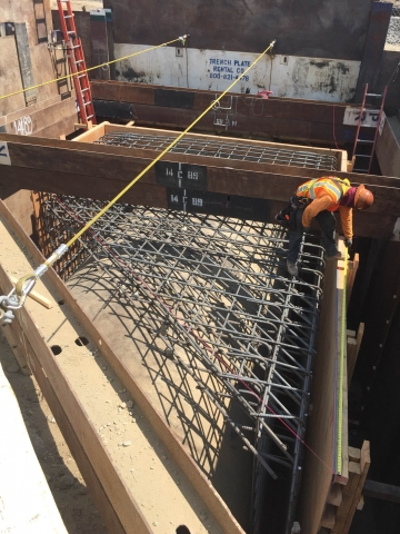 We built the concrete encasement under the 10 freeway in Fontana
